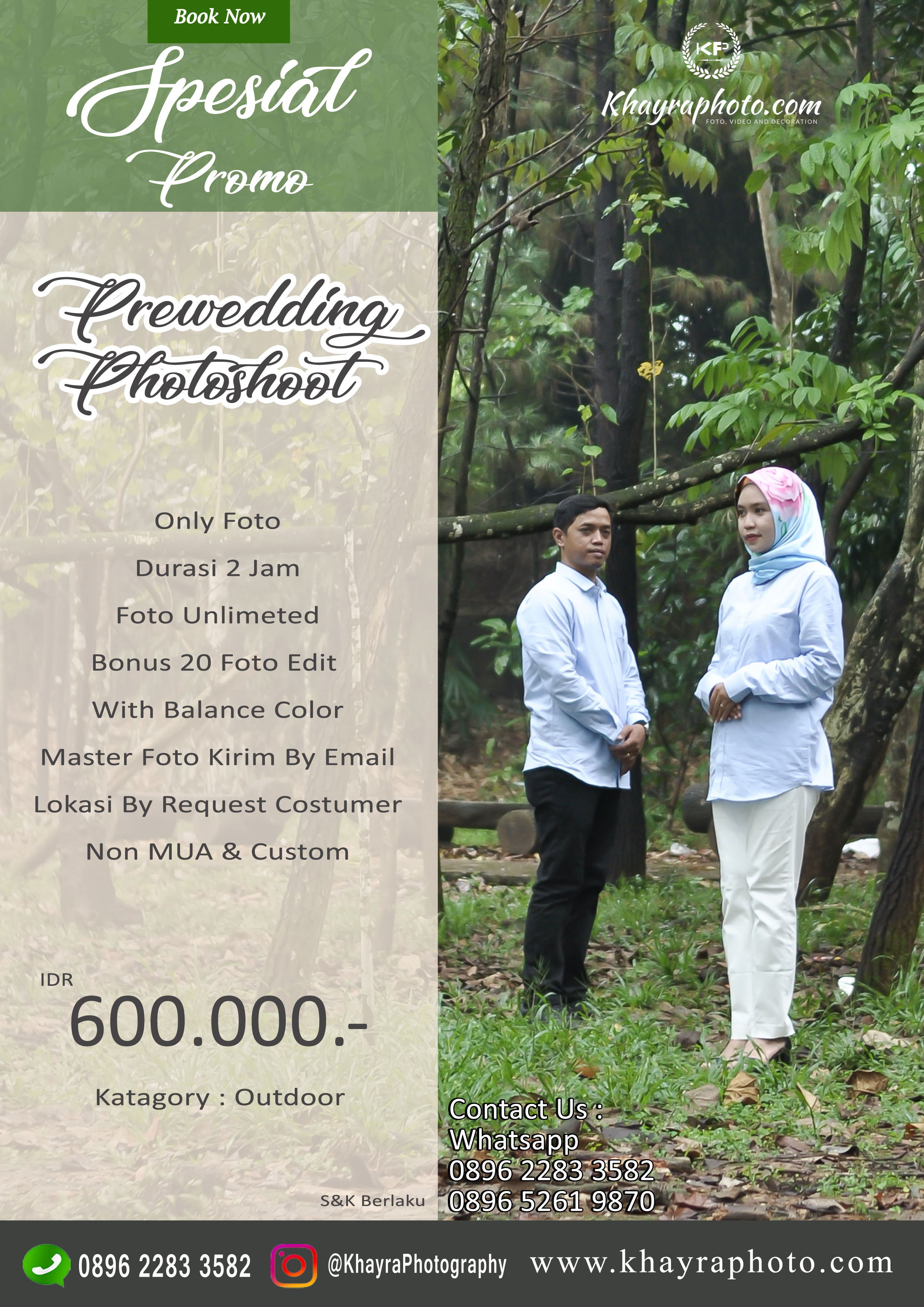Prewedding Promo Foto Only