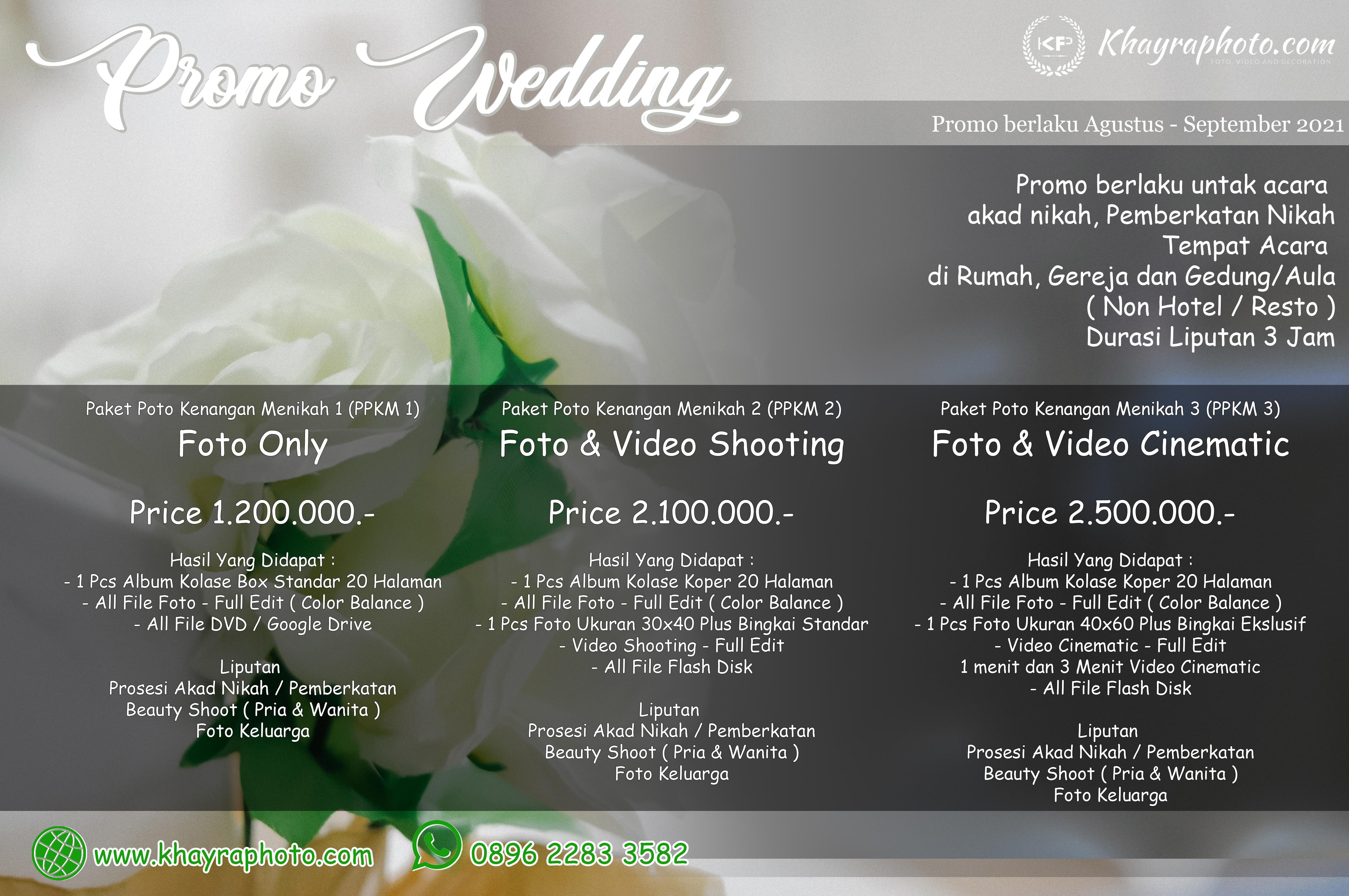 Promo Wedding agustus - september 2021